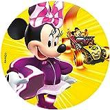 Minnie Disque en Sucre 16 cm Minnie sans Gluten sans Colorants Azoïques 15 g