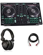 $299 » Roland DJ-202 2-Channel 4-Deck Serato DJ Controller - Bundle With Behringer HC 200 Professional Closed-Back Over-Ear DJ Headphones, H&A 2 RCA Male to 2 RCA Male Stereo Audio Cable 10'