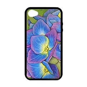 Hortensia diseño Persoanlized iPhone 4,4S para carcasa funda personalizada iPhone 4,4S