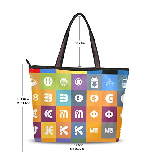 Handbags Messenger Music Shoulder Women Satchel Ladies Large Tote for Icons Bag Bennigiry Bags gFzA0aw