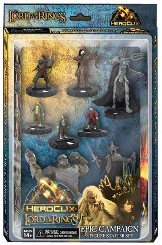 Lord of the Rings Heroclix Starter Set 8 Figures WizKids 016193 B005N3LE5E