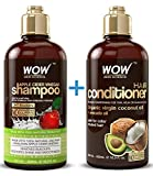 WOW Apple Cider Vinegar Shampoo and WOW Coco-Avocado Conditioner Set - The Perfect Duo For Your Hair. Our premium shampoo and conditioner set infused with botanicals to clarify and rebuild contains no harsh and harmful chemical sulfates, parabens, or...