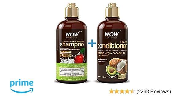 de176f3f95b Amazon.com   WOW Apple Cider Vinegar Shampoo   Hair Conditioner Set ...