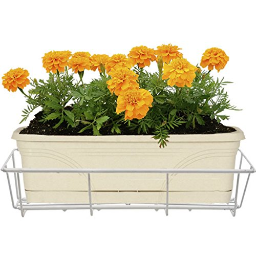 Avant Garden F2436-W CobraCo Adjustable Flower Box Holder 24''-36'', White