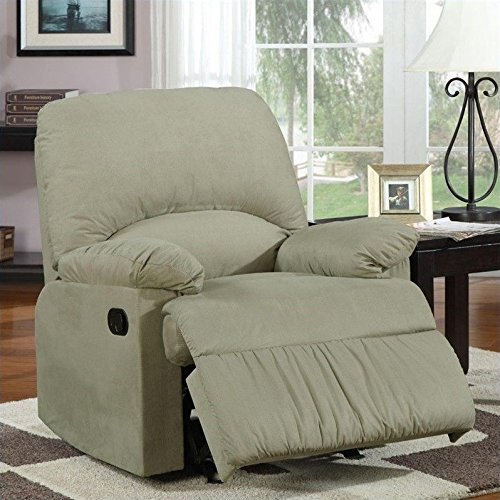 Coaster 600267G Casual Glider Recliner In Sage Microfiber Upholstery For Sale