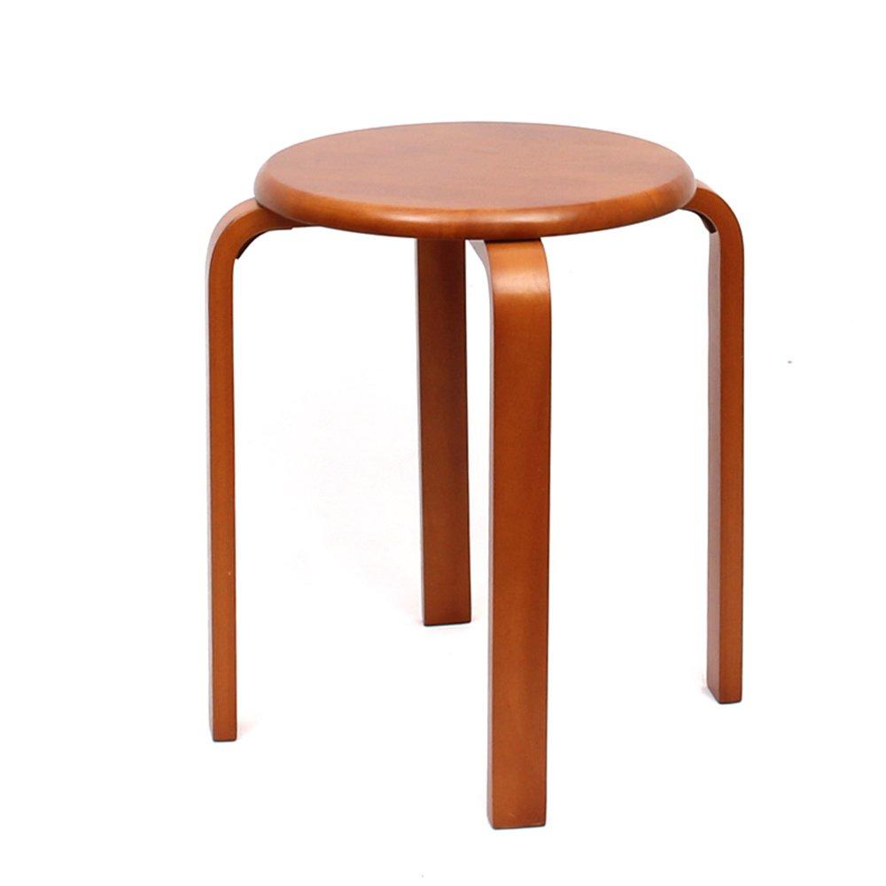 QFFL スツールソリッドウッドスツールホーム木製ダイニングテーブルベンチチェア3色オプション4チェア アウトドアスツール (色 : C) B07DZYRDSB C C