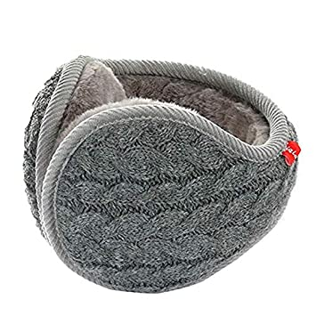Mallalah Foldable Ear Warmers/Ear Muffs Windproof Fleece Winter Earmuffs for Men Women