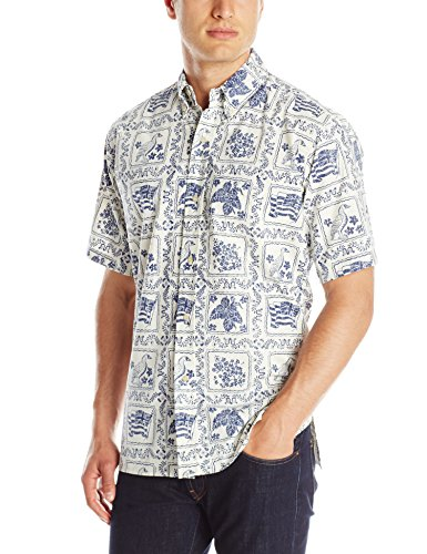Reyn Spooner Men's Lahaina Sailor Shirt, Natural, Small by Reyn Spooner
