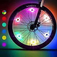Purplecrystal Luces para Radios de Bicicleta, Bicycle Spoke Lights para Decoración de Bicicletas, Seguro para el Ciclismo...
