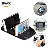 Cell Phone Holder for Car, Car Silicone Pad Dash Mat & Cell Phone Mount Holder Cradle Dock For Any Smartphone iPhone 7/6/5(S, Plus) Samsung Galaxy S8/S7/S6 edge 7 Nexus & GPS Table Holder (2PACK)
