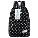 Best S-ZONE Laptop Backpacks - S-ZONE Polka Dots Canvas 14-inch Laptop School Backpack Review