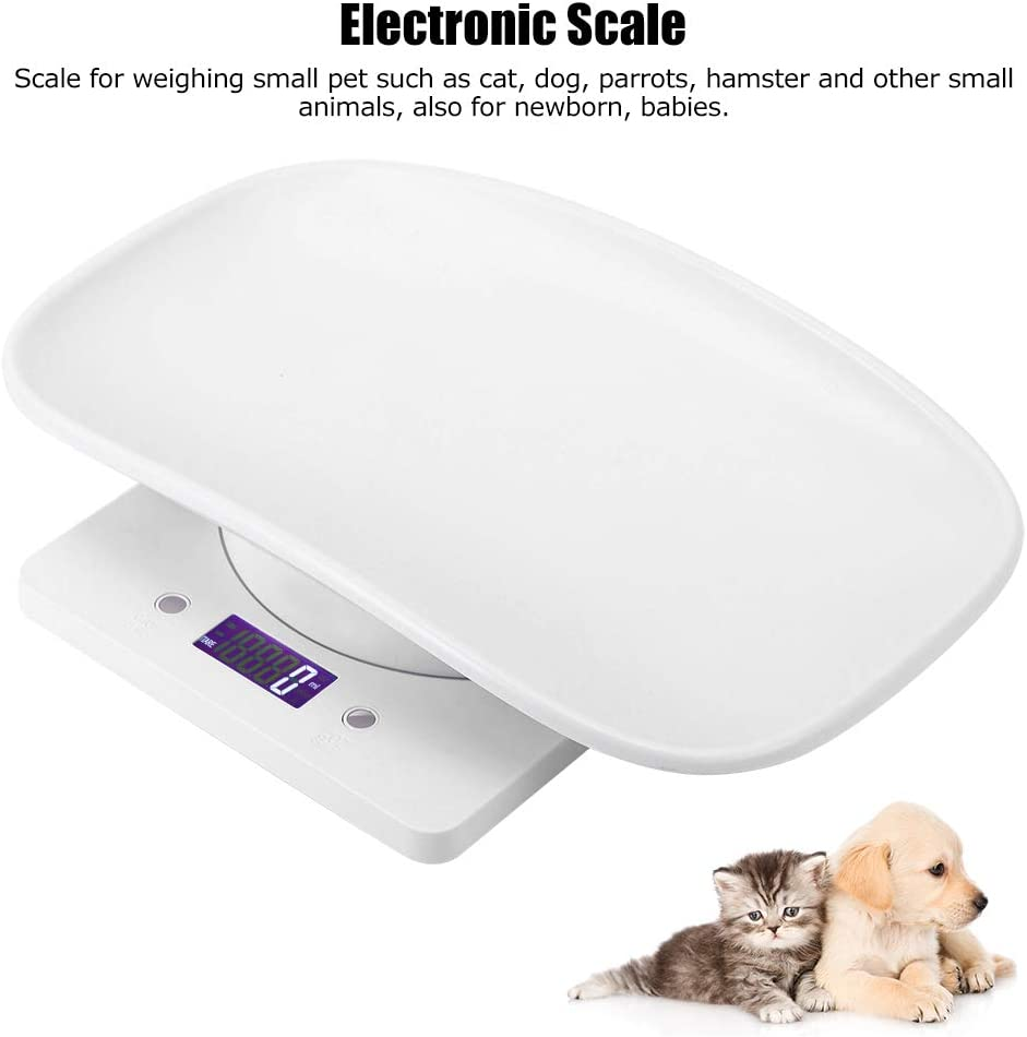 Longzhuo Digital Small Pet Weight Scale for Cats Dogs Measure Tool Electronic Kitchen Scale 10kg//1g
