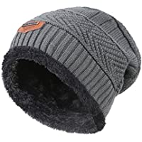 4fcbc4c51c5 MIEDEON Men s Winter Knitting Skull Cap Wool Warm Slouchy Beanie Hat