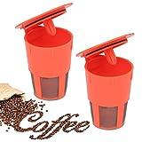Xcellent Global 2 Pack K-Carafe Reusable Coffee Filters For Keurig 2.0, Compatible With K200, K300, K400, K500 Series HG171