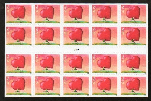 ALL HEART 2007 POSTAGE STAMP MINT BOOKLET OF 20 Scott 4170a