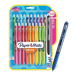 Paper Mate InkJoy Gel Pens, Medium Point, Assorted Colors, 20 Count