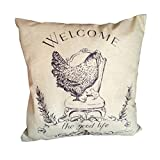 Iuhan Fashion Chicken Pillow Case Sofa Waist Throw Cushion Cover Home Decor (C)
