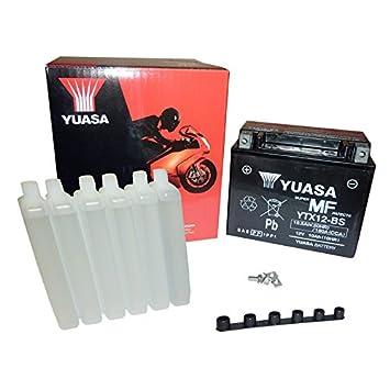 Yuasa YTX12-BS - Baterí a con paquete de á cido,12V, 10Ah Yuasa Battery EU YTX12-BS -Y