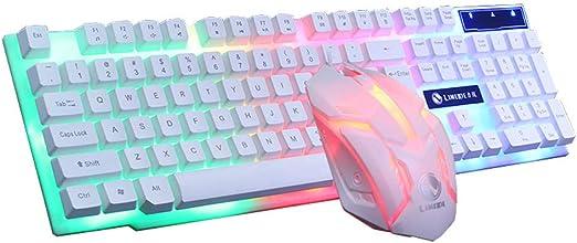 Teclado para juegos Colorido LED retroiluminado iluminado ...