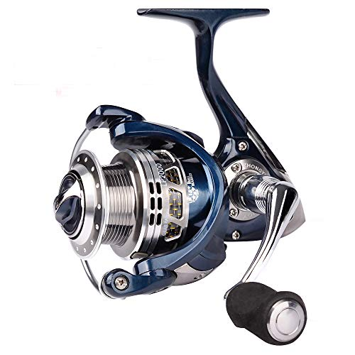 Proberos Spinning Reels Fishing Reel 20KG Max Drag Sea Boat 1000-6000 Aluminum Alloy Reel 14BB Stainless Steel Bearing Anti-Seawater (LP, 2000)