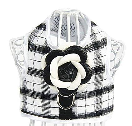 LBX Vestido De Chaleco De Estilo De Lujo De Mascotas Plaid Blanco Y Negro  Material De c3a230df7121