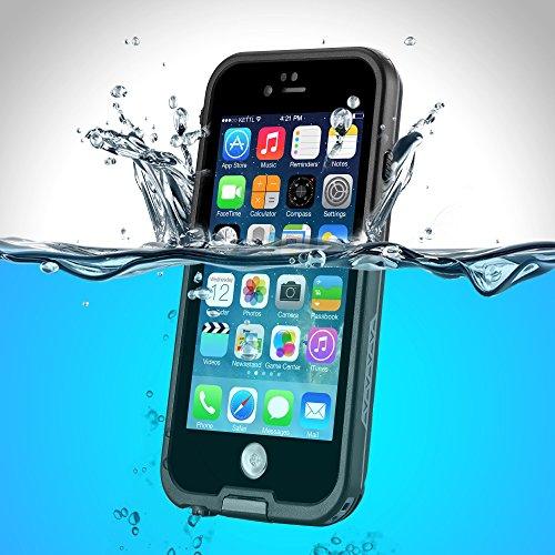 PhoneStar Premium Apple iPhone 6s iPhone 6 wasserdichte Outdooor Schutzhülle Waterproof Case staub-, wasser- und schneedicht rumdum Schutz Hülle in schwarz