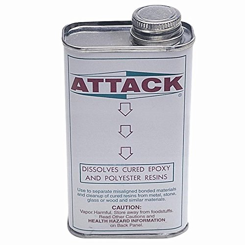 Attack Epoxy Resin Glue Remover Adhesive Disolves Cleaner Liquid Solvent Can