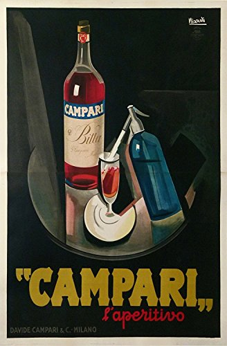 (Vintage ad Bitter Campari Fabric Cloth Rolled Wall Poster Print -- Size: (36