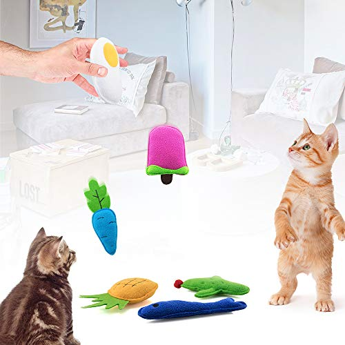 AWOOF Catnip Toys for Cats, Natural Catnip Kitten Toys Cat Toys Set 4