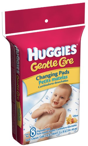 Huggies Disposable Changing Pads, 8-Count Packages (Pack of 5)