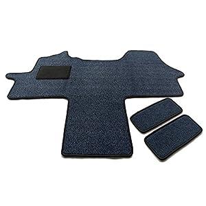 Fahrerhaus Teppich & Einstiege 3-teilig Schmutzfangmatte in 6 Farben (Blau)