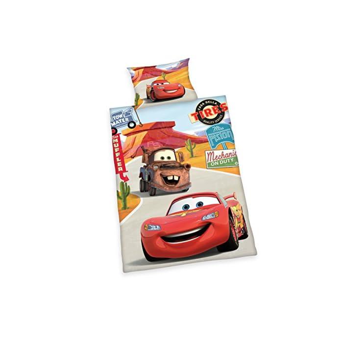 511hfTPZagL Los niños Licencia Tema: Disney Cars Volviendo almohada y funda de edredón con motivo de doble cara Material: 100% algodón, RENFORCE