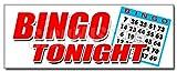 48'' BINGO TONIGHT DECAL sticker public welcome free cards cash play win