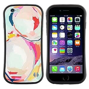 "Hypernova Slim Fit Dual Barniz Protector Caso Case Funda Para Apple (4.7 inches!!!) iPhone 6 / 6S (4.7 INCH) [Moderno Pintura Arte Arte de la acuarela""]"