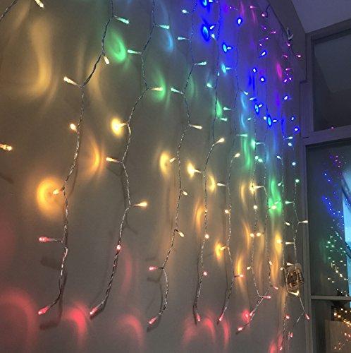 Fefelightup Rainbow Curtain Lights Fairy Lights Icicle Lights Fantasy Unicorn (Rainbow) by FEFE (Image #8)