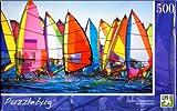 Puzzlebug 500 Piece Puzzle Fully Interlocking Pieces Colorful Windsurfing