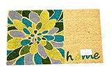 Home Garden Hardware 37558 Home Green Printed Coir Doormat,Natural,Small
