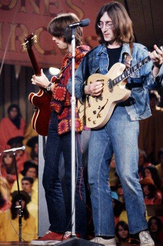 John Lennon Eric Clapton 1968 Rolling Stones Rock N Roll Circus 24x36 Poster