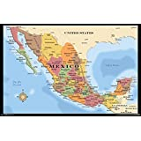 """Trends International Mexico Map Wall Poster 22.375"""" x 34"""""""