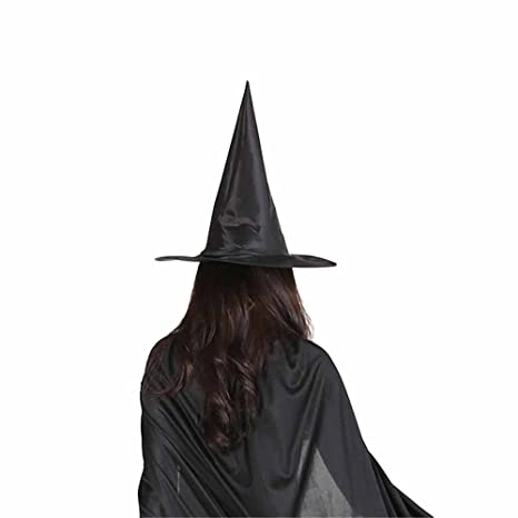Cappello da Strega Halloween Witch Hat Cosplay Cappello Strega Donna  Costume Accessorio Stregoni Streghe Hat Adulto 7380b0d8e003