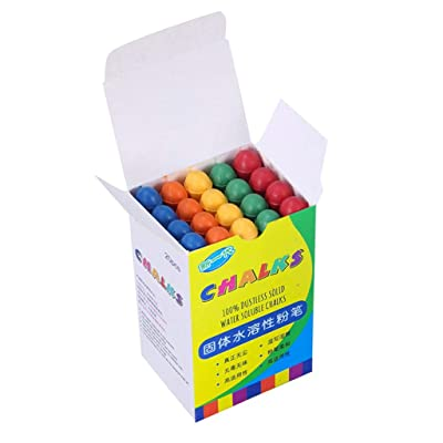 Gahrchian Chalk Colored Floor Chalks Jumbo Sidewalk Chalk Colored Dustless Chalk Parent-Child Art Game (Multicolor): Clothing
