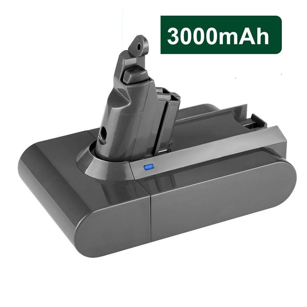Auter 3000mAh V6 Battery Replacement for Dyson 21.6vd 595 650 770 880 DC58 DC59 DC61 DC62 Animal DC72 Series Li-ion Handheld Vacuum