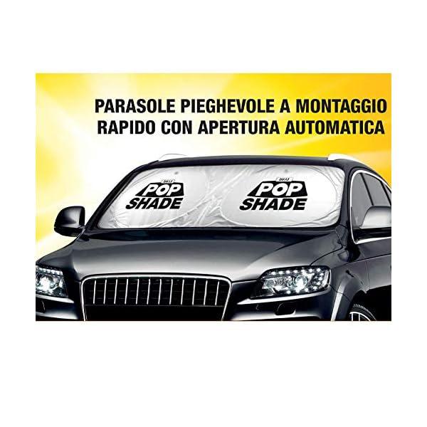 BAKAJI Parasole Parabrezza Anteriore Interno Auto Pop-Up Tendina Protezione Cruscotto Pieghevole Universale con Ventose… 6 spesavip