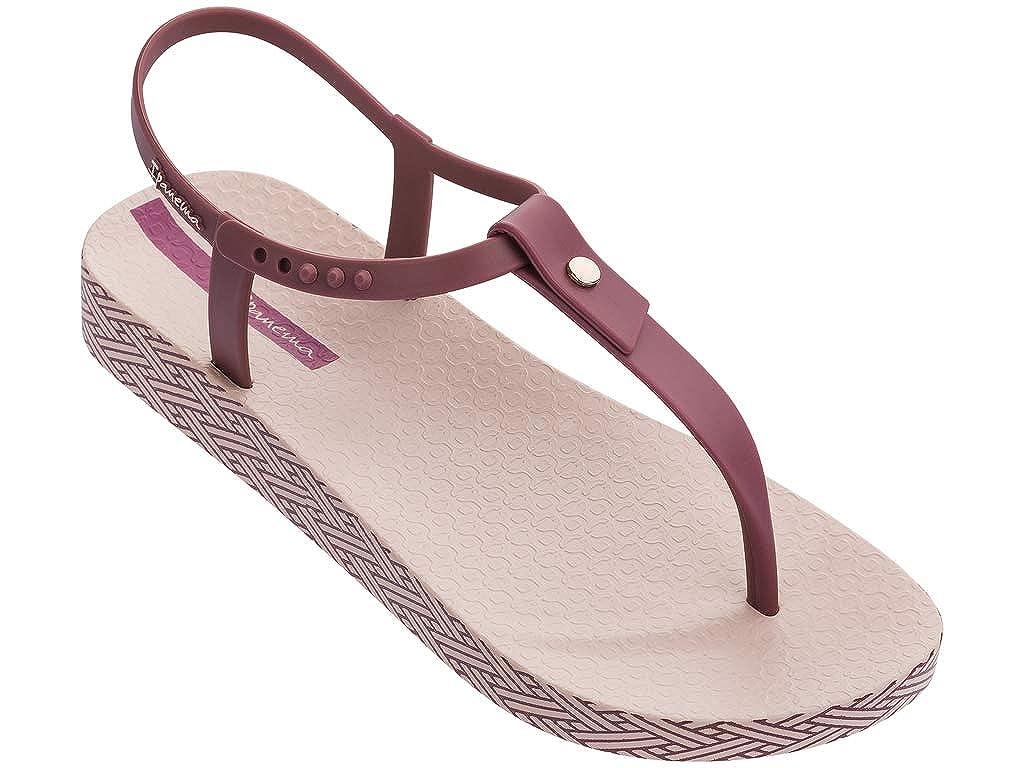 Pink Burgundy Ipanema Womens Plush Weave Sandal
