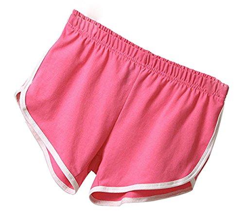 Yoga Onlyoustyle Estivo da Pants Elastico Vita Rosa Casual Rossa Irregolare Jogging Corto Shorts Donna Pantaloni Pantaloncini Hot Fitness Moda rrxqng4