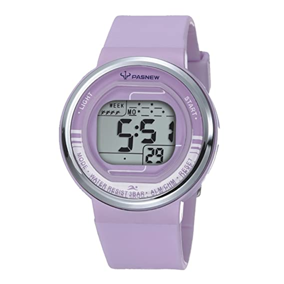 De dibujos animados para niños Seguir/Chicas relojes Sport/Jalea reloj digital regalos de cumpleaños-púrpura: Amazon.es: Relojes