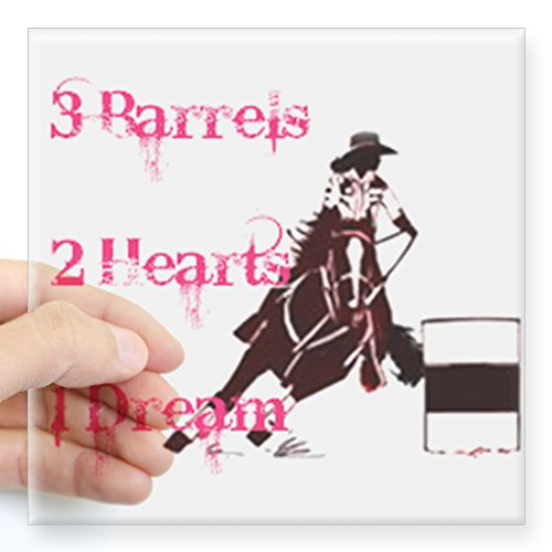 CafePress - 3 Barrels, 2 Hearts, 1 Dream Square Sticker 3