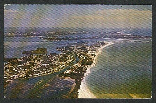 Aerial View of St Armands & Lido Keys Siesta Key Sarasota FL postcard - Key St Armands Fl