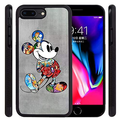 DISNEY COLLECTION Tire Phone Case Compatible with iPhone 7 Plus,iPhone 8 Plus(5.5 inch) Mickey Family Pattern Design Skid Shock Proof Protective Cover