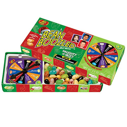Jelly Belly Bean Boozled Naughty Or Nice Wacky Fun Christmas Spinner Game